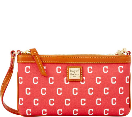 Dooney & Bourke MLB Indians Large Slim Wristlet