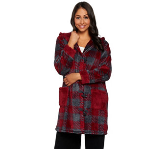 Cuddl Duds Frosted Lounge Jacket - A280245