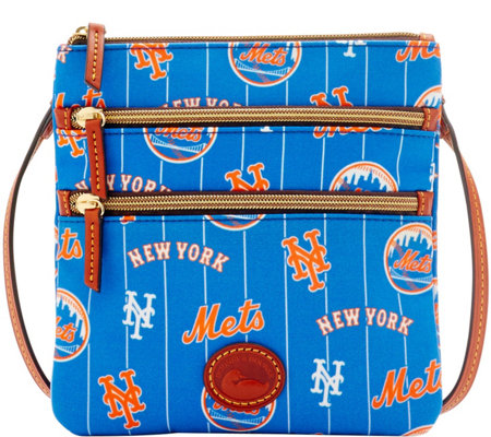 Dooney & Bourke MLB Nylon Mets Triple Zip Crossbody