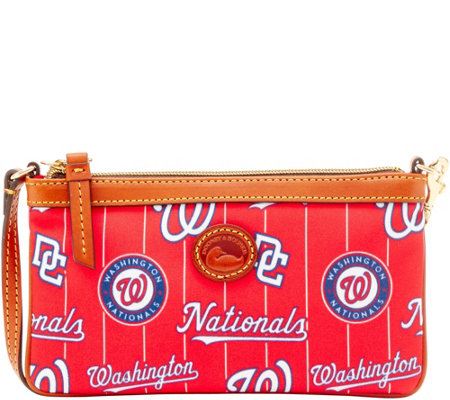 Dooney & Bourke MLB Nylon Nationals Large Slim Wristlet