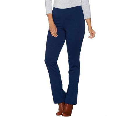 Women with Control Regular_Pull-On Ponte di Roma Slim Bell Pants