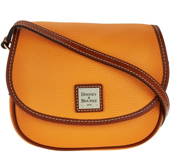 """As Is"" Dooney & Bourke Pebble Leather Hallie Crossbody Bag - A282845"