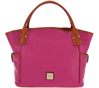 """As Is"" Dooney & Bourke Pebbled Leather Kristen Tote Bag - A287945"