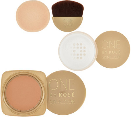 ONE by KOSE Water-Luxe Gel Creme Foundation & Cool Powder Duo