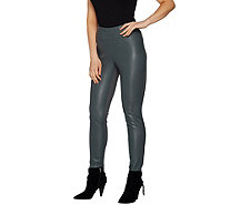 G.I.L.I. Faux Leather and Ponte Leggings - A297945
