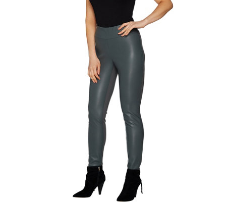 G.I.L.I. Faux Leather and Ponte Leggings