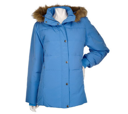 Zero Xposur Down/Feather Quilted Jacket with Removeable Hood