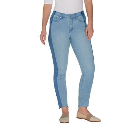 Martha Stewart Regular 5-Pocket Ankle Jeans w/ Tuxedo Stripe