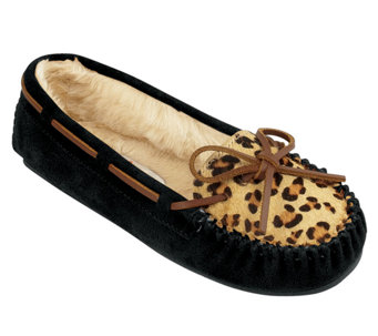Minnetonka Leopard Cally Slippers - A333445