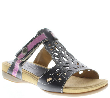 Spring Step L'Artiste Leather Slide Sandals - Ulyana