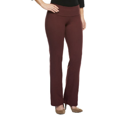 Women with Control Comfort Fold Regular Length Knit Pants