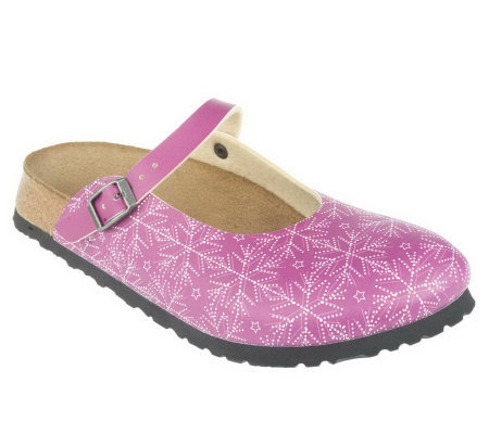 Birki's Big Snowflake Print Adjustable Mary Janes