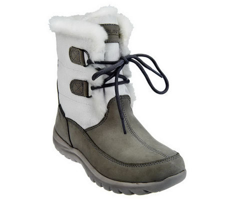 Mountrek Lisa Lace-up Waterproof Leather and Canvas Boots