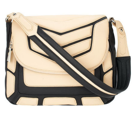 Aimee Kestenberg Leather Flap Front Shoulder Bag