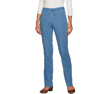 Isaac Mizrahi Live! Regular 24/7 Denim Straight Leg Pants - A266946