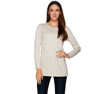 Liz Claiborne New York Jacquard Knit Tunic w/ Long Sleeves - A268846