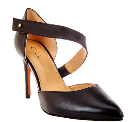 G.I.L.I. Leather Asymmetrical Pumps - Farrin