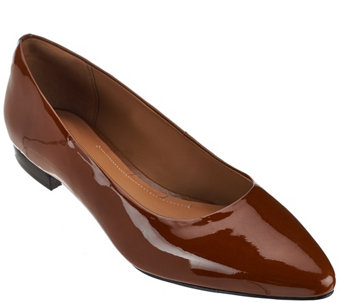 Clarks Artisan Leather Pointed Toe Flats - Corabeth Abbey - A271846