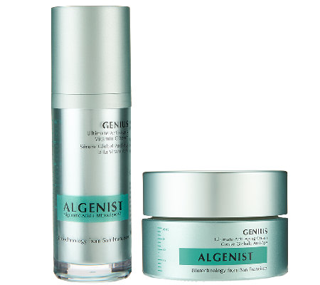 Algenist Ultimate Anti-Aging Moisturizer and Genius Serum
