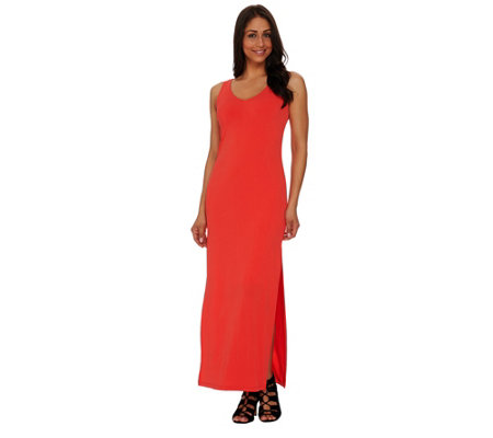 G.I.L.I. Petite Sleeveless Side Slit Maxi Dress