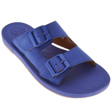 Clarks Double Buckle Adjustable Slide Sandals - Paylor Pax