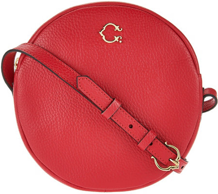 C. Wonder Round Canteen Leather Crossbody Handbag