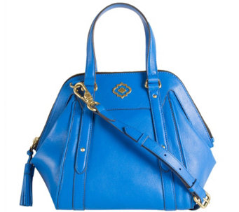 """As Is"" orYANY Pebble Leather Satchel - Anabelle - A280246"