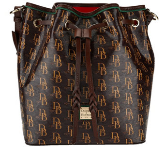 """As Is"" Dooney & Bourke Sutton Kendall Drawstring Bag - A280446"