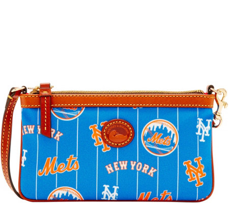 Dooney & Bourke MLB Nylon Mets Large Slim Wristlet
