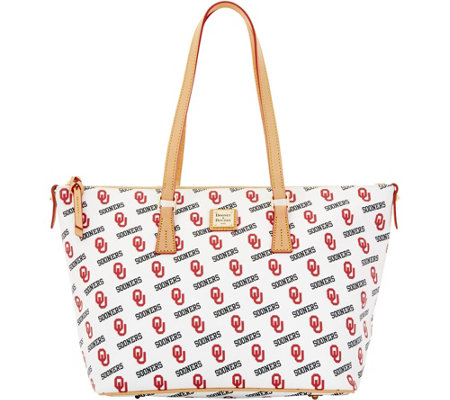 Dooney & Bourke NCAA University of Oklahoma Zip Top Shopper