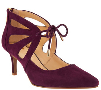 C. Wonder Suede Pumps with Cutout Detail - Scarlett - A284146