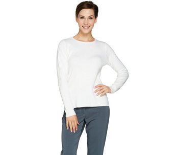 Linea by Louis Dell'Olio Whisper Knit Long Sleeve Sweater - A285546
