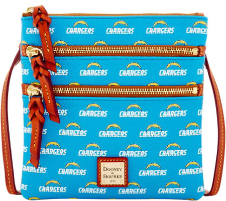 Dooney & Bourke NFL Chargers Triple Zip Crossbody