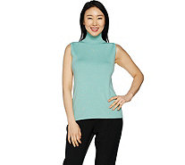Linea by Louis Dell'Olio Whisper Knit Sleeveless Turtleneck - A293746