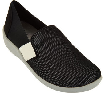 """As Is"" Clarks Cloud Steppers Mesh Slip-on Shoes - Sillian Oak - A294146"