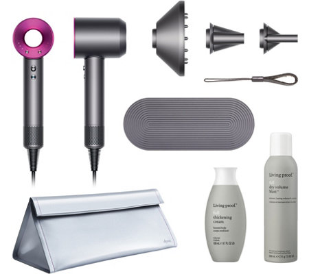 Dyson Supersonic Hair Dryer With Living Proof And Travel