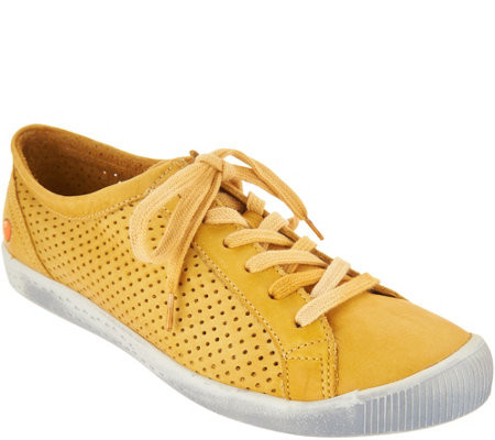 Softinos by FLY London Leather Lace Up Sneakers - Ica