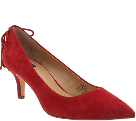"""As Is"" G.I.L.I. Pointed Toe Pumps with Tassels-Brianna"