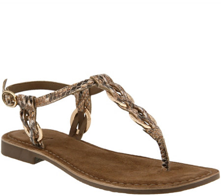 Azura by Spring Step Leather Thong Sandals - Cerelia