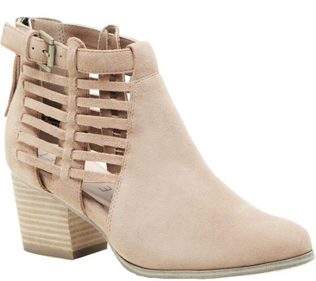 Sole Society Side Cage Booties - Ash
