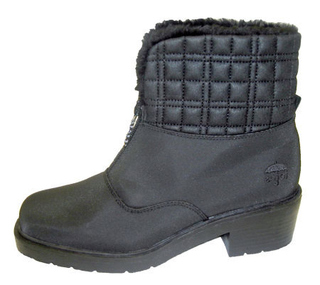 Totes Women's Emily Front Zip Waterproof Quilted Ankle Boot