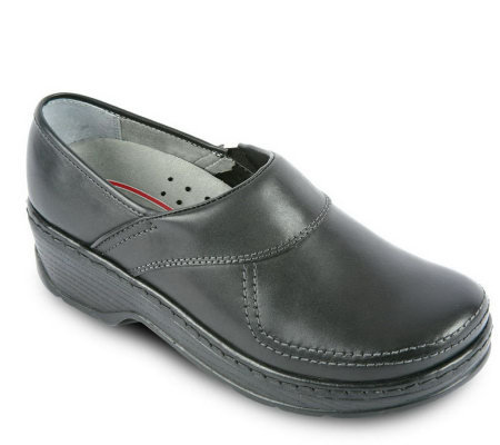 Klogs Leather Slip-On Clogs -Sonora
