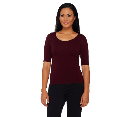 Legacy Slim Disguise Shaper Tee with 3/4 Sleeves