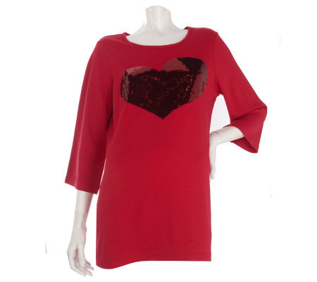 Quacker Factory Love Me Heart Tunic