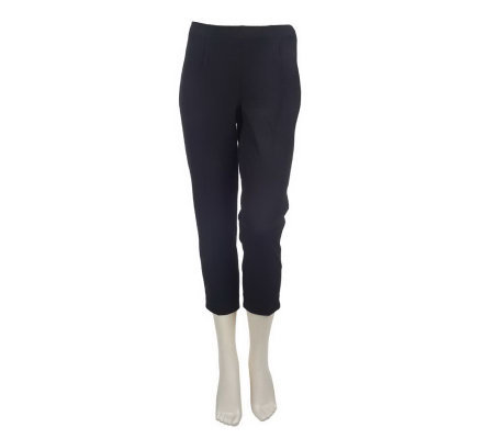 Motto Stretch Flat Front Ankle Pants with Side Zip
