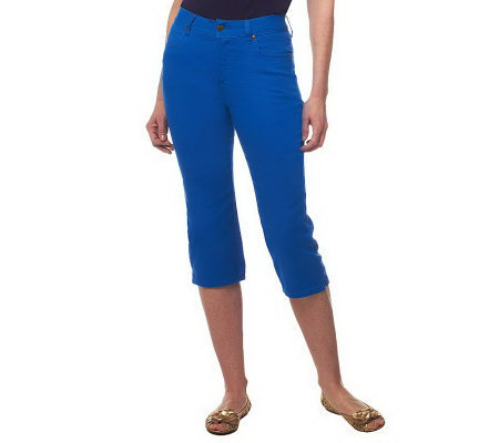 "Women with Control ""My WonderJean"" Contour Waist Capri Pants"