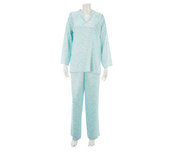 SleepIn by BedHead PJs Zebra Print Tunic Lounge Set - A230147