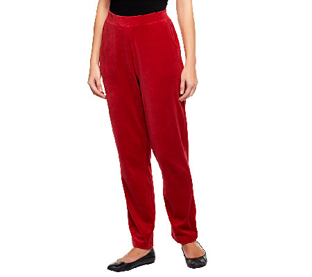 Denim & Co. Active Velour Pull-On Pants with Pockets