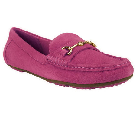 """As Is"" Isaac Mizrahi Live! Classic Suede Moccasins"
