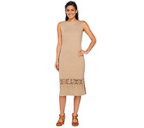 Liz Claiborne New York Regular Midi Dress w/ Lace Trim - A263447